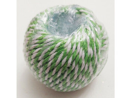 Craftsmart Green and White Twisted Twine, 35 Yards image 2