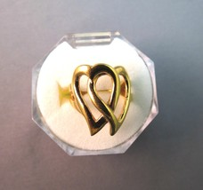 Park Lane Retired Entwined Hearts Ring 18k Gold... - $16.82