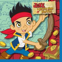 Jake and the Never Land Pirates Luncheon Napkins [16 Per Pack] - $9.79