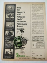 1975 Johnson Reels 710 Fishing Fishermen Original Print Ad Advertisement  - $18.79