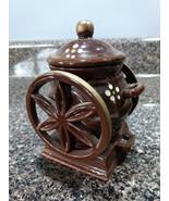Vintage INARCO  Porcelain Brown Instant Coffee Jar w/lid 1960's Coffee G... - $14.00