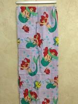 "Disney The Little Mermaid Purple Striped Valance Curtains (2) 86"" X 16"" ... - $29.69"