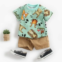 Lovely Baby Clothing Sets Newborn Infant Baby Boys Girls Short Sleeve Ca... - $25.08+