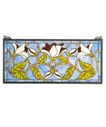 """Meyda Tiffany Magnolia Stained Glass Window  25""""W X 11""""H - $344.00"""