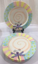"Shannon McGraw for Ganz Set Of 3 Pastel Decorative Plates 10"" Dragonfly ... - $24.74"