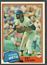 New York Mets Pat Zachry 1981 Topps Baseball Card # 224 nr mt - $0.50