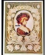 VOGUE MAGAZINE COVER POSTER APRIL 1903 SPRING FASHIONS ETHEL WRIGHT ART ... - $14.49