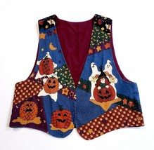 Women's Halloween Themed Colorful Vest Handmade Colorful Fun Holiday One... - $22.18