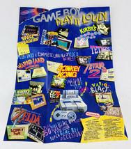 "Game Boy ""PLAY IT LOUD!"" Poster - Nintendo 11"" x 8"" Good Shape! GameBoy - $14.84"