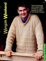 "Wyngate Weekend Sweater Sz 45"" To 53"" Knitting PATTERN/INSTRUCTIONS Leaflet - $1.77"