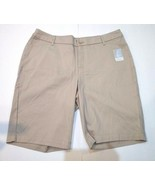 St. John's Bay Woman's Bermuda Mid-Rise Shorts Slimming Panel Sz 18W Oxf... - $25.71