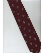 ROBERT TALBOTT Tie ~ Maroon, Gold, Gray ~ Horn,... - $24.00
