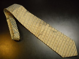 Joseph Abboud Neck Tie Diagonal Stripes of Greens Gold Tie Made in Italy Silk - $12.99