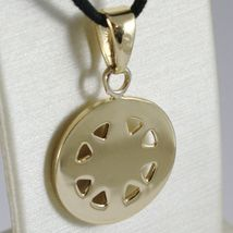18K YELLOW GOLD WIND ROSE COMPASS CHARM PENDANT, MADE IN ITALY, DIAMETER 19 MM image 3