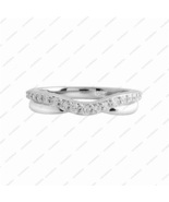 Rhodium Plated 925 Sterling Silver White CZ New Fashion Ring Size 5 6 7 - £11.90 GBP