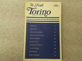 1976 Ford Torino Owners Manual 15880 - $16.82