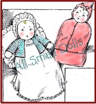 """Vintage 14"""" Cloth Baby Doll Pattern - $7.99"""