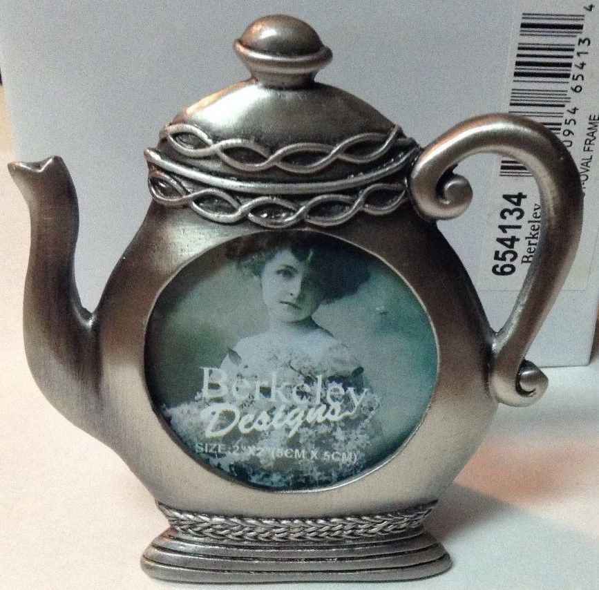 Silver Photo Frame Nib Pewter Tea Pot Table Top Small