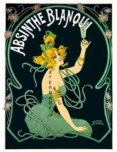 Absinthe Blangui 13 x 10 inch Liquor Aperitif Advertising Giclee Canvas ... - $19.95