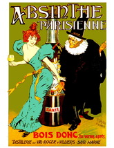 Absinthe Bois Donc 13 x 10 inch Liquor Aperitif Advertising Giclee Canva... - $19.95