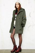 Women's German Army olive Parka military coat jacket fur winter - $67.50