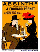 Absinthe Montbeliard 13 x 10 inch Liquor Aperitif Advertising Giclee Can... - $19.95