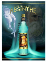 Absinthe Pere Kermann 13 x 10 inch Liquor Aperitif Advertising Giclee Ca... - $19.95