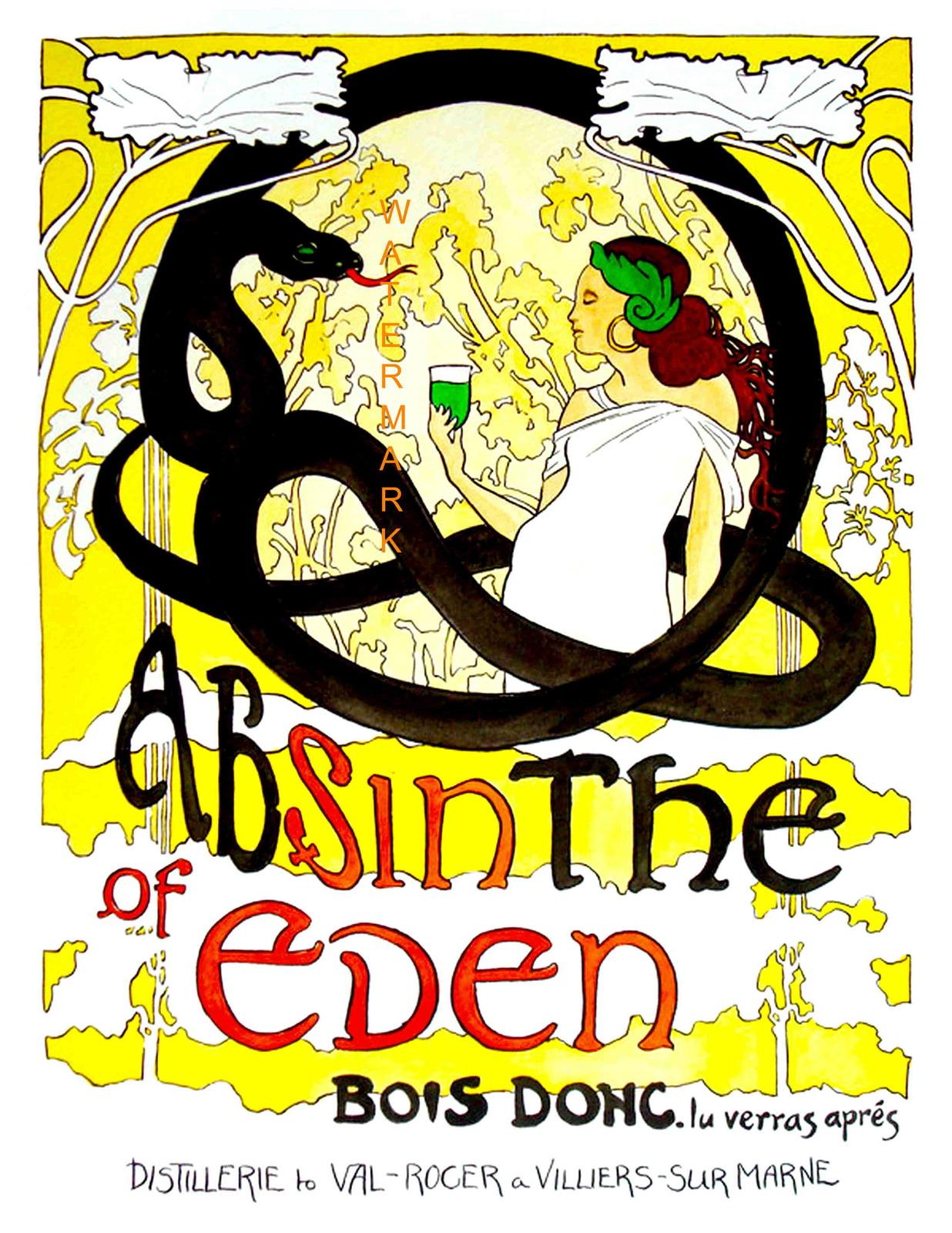 Polly absinthe poster eden snake
