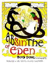 Absinthe Eden Snake13 x 10 inch Liquor Aperitif Advertising Giclee Canva... - $19.95