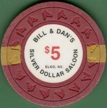 $5 Casino Chip, Silver Dollar Saloon, Elko, NV. 1991. L37. - $22.50