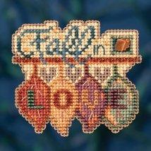 Fall In Love Autumn Harvest 2016 seasonal ornament kit cross stitch Mill... - $6.75