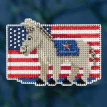 Patriotic Blue Autumn Harvest 2016 seasonal orn... - $6.75