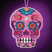 Rosa Calavera 2016 charmed ornament kit cross stitch Mill Hill - $6.75