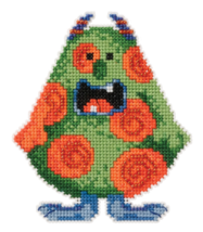 Spot Trilogy Little Monsters 2016 bead ornament kit cross stitch Mill Hill - $7.20
