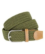 Woven Braided Soft Fabric Comfort Stretch Casual Belt for Men (Green, Small) - $136,20 MXN