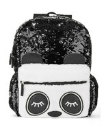 """Wonder Nation ~ Sequin Panda ~  Critters ~ 16"""" Backpack/Book Bag ~ Black... - $17.60"""