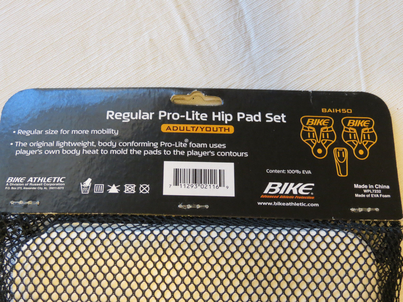 BIKE Adult Large Pro-Lite Thigh Pad Set White BAIT30 white protective gear NEW