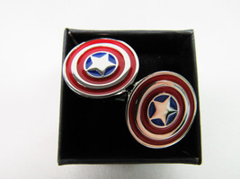 Captain America Shield Cufflinks (with gift box) - $14.99