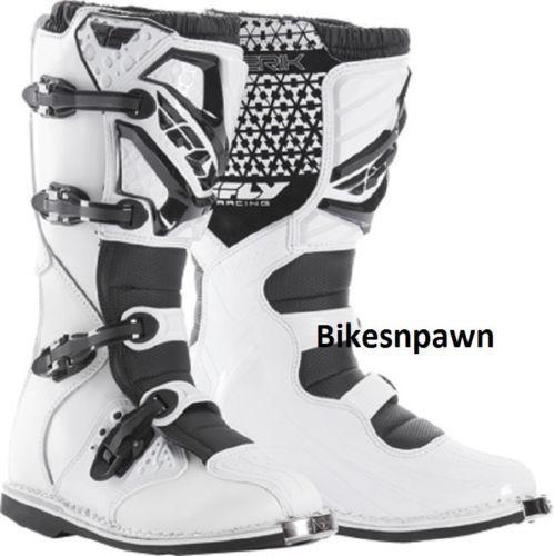 New 2016 Adult Size 13 Fly Racing Maverik White Motocross MX ATV Boots