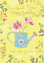 "MUM HAPPY BIRTHDAY CARD ""WATERING CAN DESIGN"" SIZE 9.00"" x 4.75"" MM0192 - $5.84"