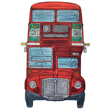 "BLANK CARD ""ROUTEMASTER LONDON BUS"" LARGE SQUARE SIZE 6.25"" x 6.25"" 8845... - $5.11"