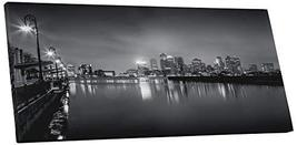 "Pingo World 0721Q5UTXBG ""Boston Black and White Skyline Panoramic"" Gallery Wrapp - $57.37"
