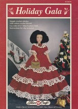 Holiday Gala, Fibre Craft Doll Christmas Clothes Crochet Pattern Booklet FCM270 - $2.95