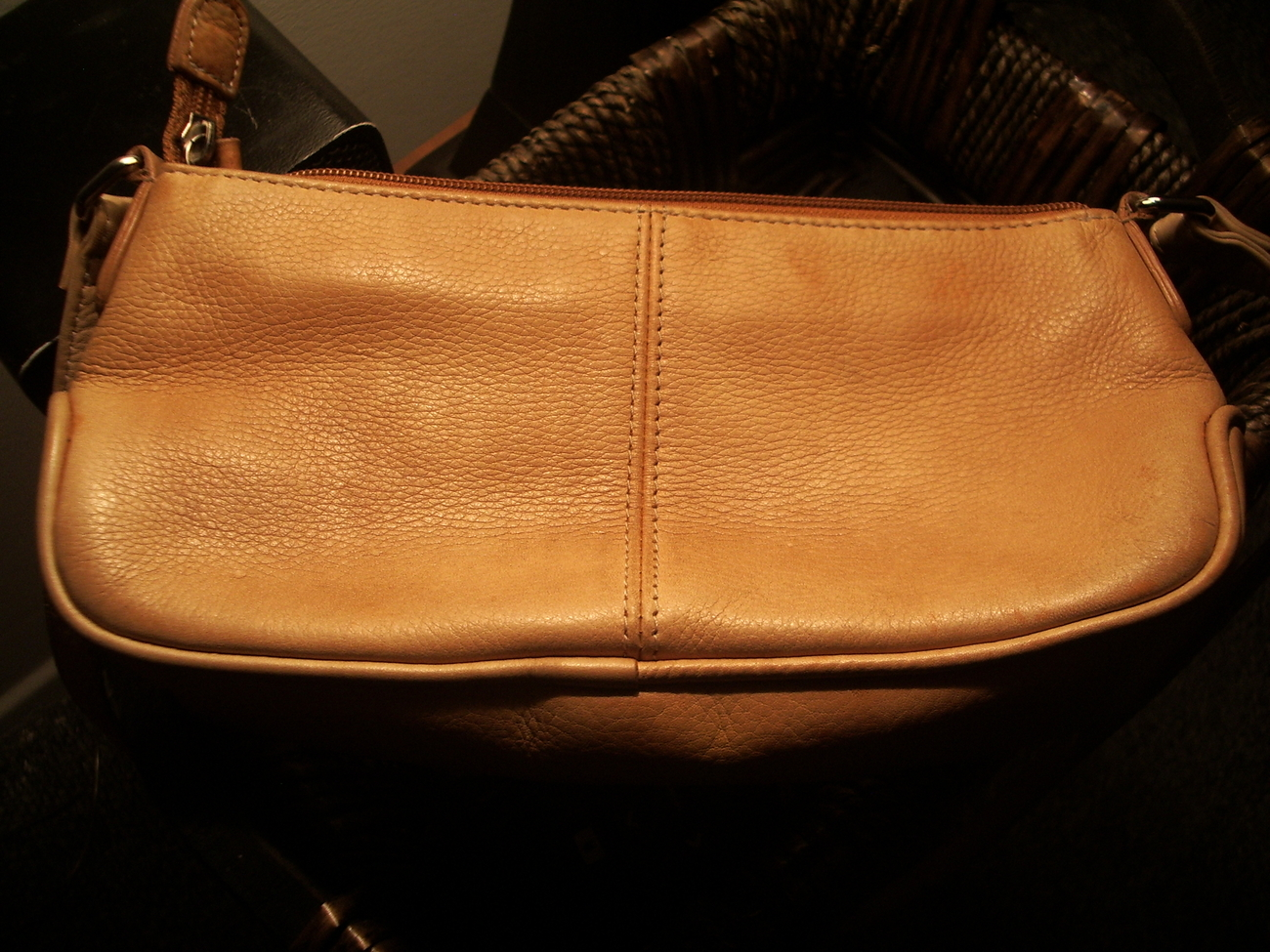 Fossil Camel Leather Cross Body handbag