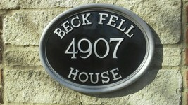Name & Numbered large Oval country house Plaque... - $179.89