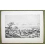 AFRICA Nigeria Market Place at Sokoto - 1858 Engraving Print - $12.38