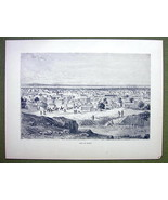 SUDAN in Africa View City of Kano - 1858 Engrav... - $12.38
