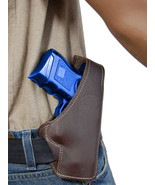 New Barsony Brown Leather Pancake Gun Holster Kel-Tec Kimber Sccy Comp 9mm 40 45 - $36.99
