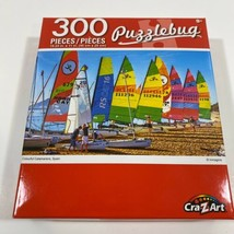 "PUZZLEBUG 18.25"" X 11"" Puzzle 300 Piece COLORFUL CATAMARANS SPAIN - NEW - $11.28"