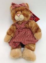 Kittra Russ Stuffed kitten Cat Plush Heartcraft orange tabby 100430 Vale... - $12.00